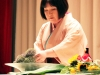 Демонстрация икэбана проф. Кейко Такано.